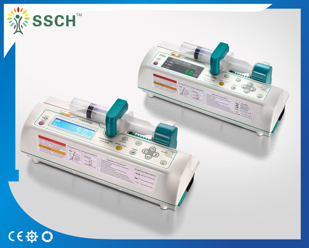 Professional Electronic Medical Infusion Pumps / Syringe Pump for All Syringe 10mL- 50mL